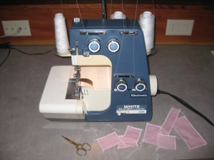 Serger and scraps