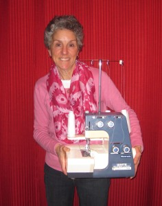Molly with serger