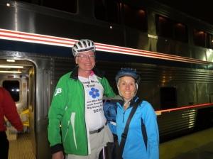 Boarding Amtrak