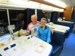 Amtrak dining car