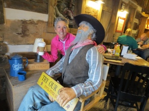 Molly and cowboy at Java Ranch