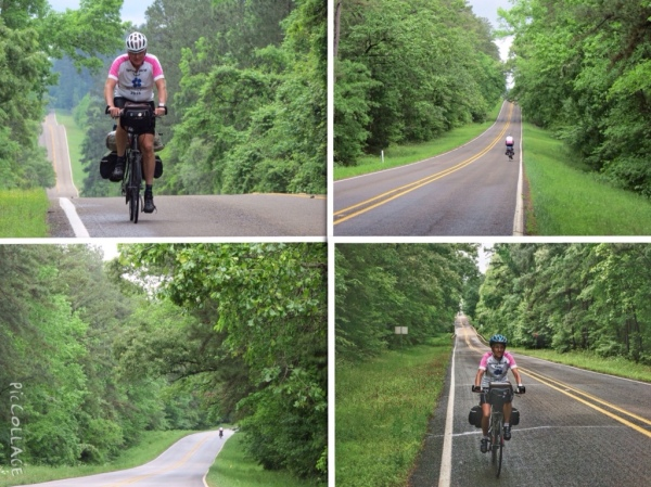 Cycling through Davy Crockett National Forest