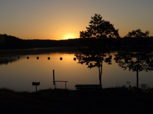 Sunrise over Gillham Lake