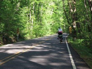 Rich cycling The Ozarks