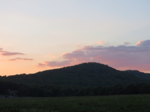 Sunset at Mulberry Mountain