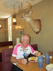 Rich at the campground restaurant