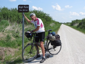 Highest point on Katy Trail
