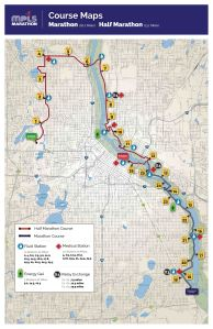 Minneapolis Marathon route