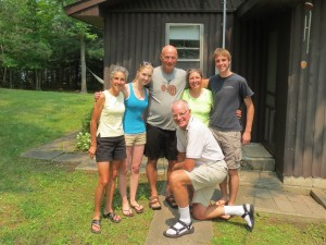 Charles and Marthe with us at the cabin