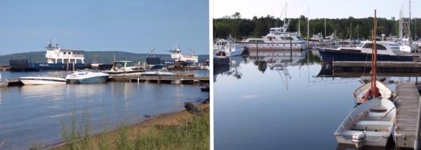 La Pointe harbor and marina