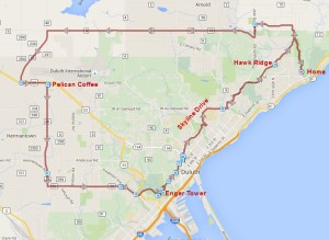Skyline Bike Route Map