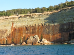 Pictured Rocks vertical stripes