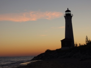 Crisp Point Lighthouse sunrise