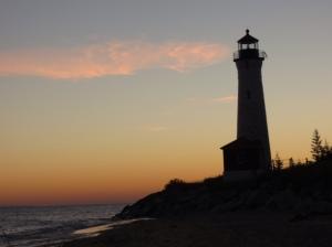 Crisp Point Lighthouse sunrise