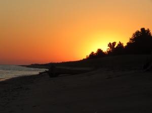 Crisp Point sunrise over the beach