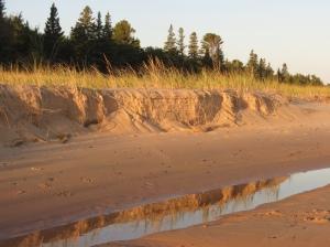 Crisp Point beach reflection