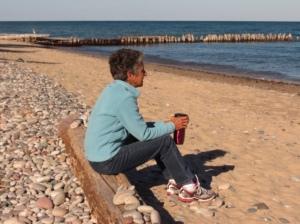 Molly breakfast on the beach