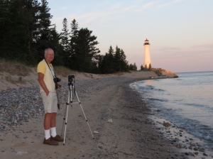 Rich photographing Crisp Point Lighthouse