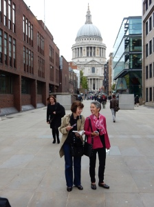 Mary and Molly with St. Paul's Cathedral