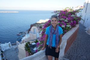 Molly in Oia
