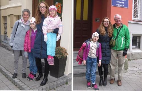 Picking Pavla's girls up at school
