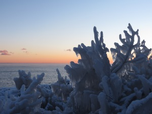 North Shore sunset ice 1