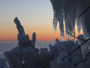 North Shore sunset ice 2