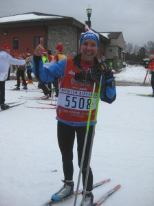 Molly after finishing the Birkie