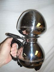 An old fashioned vacuum coffeemaker