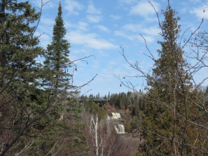 Long distance view of Gooseberry Falls
