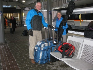 Molly and Rich in Bergen train station