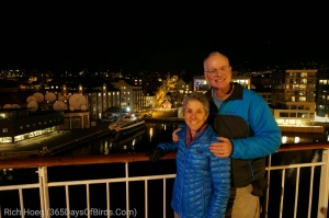 Molly and Rich leaving Bergen