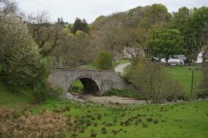 Scenic bridge along the road