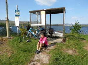 Molly waiting for passenger ferry