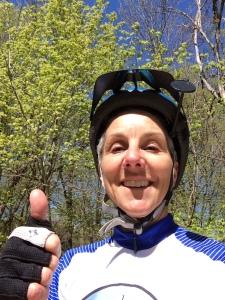 Molly on bike ride