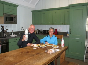 Rich and Molly in Blackhouse hostel