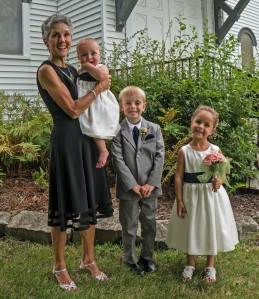 Molly with Grandkids at Wedding trimmed