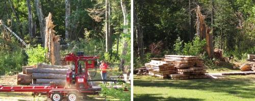 Next door lumber mill