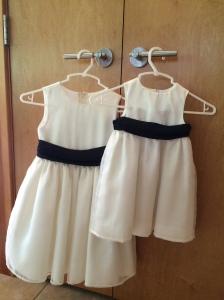 Mya and Isabel's dresses