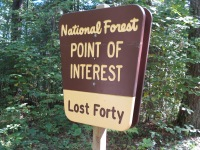 Lost 40 sign