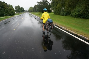Rainy cycling