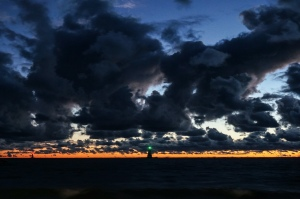 Sunset over Lake Michigan - by Rich Hoeg