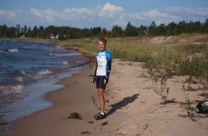 Molly on Lake Huron shore
