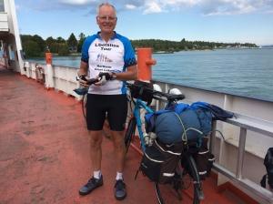 Rich on Drummond Island ferry