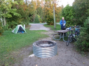 Lake Huron campsite