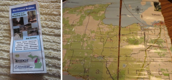 Michigan cycling maps