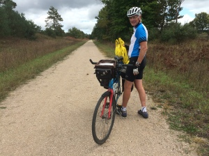 Rich on the unpaved trail