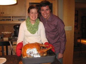 Carl and Chelsea Thanksgiving turkey