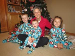 Grammy with Kennedy grandkids