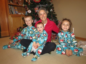 Grammy with Kennedy grandkids